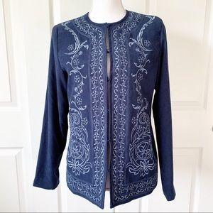 Susan Graver Style Blue Blazer / Jacket Size XS
